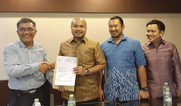 Afie Kalla mencalonkan karena inisiatif dan dorongan dari teman-teman Hipmi Jaya dan Kadin sebagai Calon Ketua Umum KADIN DKI Jakarta untuk periode 2019-2024 di Jakarta, Rabu (24/4).Foto: dok. Hipmi Jaya