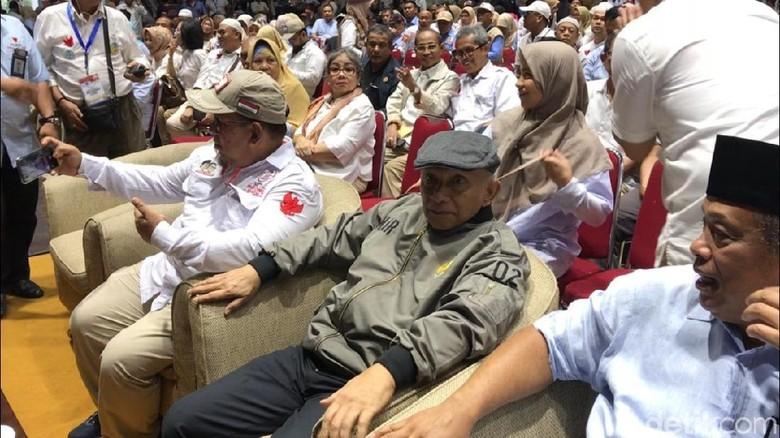 Amien Rais-Djoko Santoso Hadiri Syukuran Klaim Kemenangan Prabowo di TMII