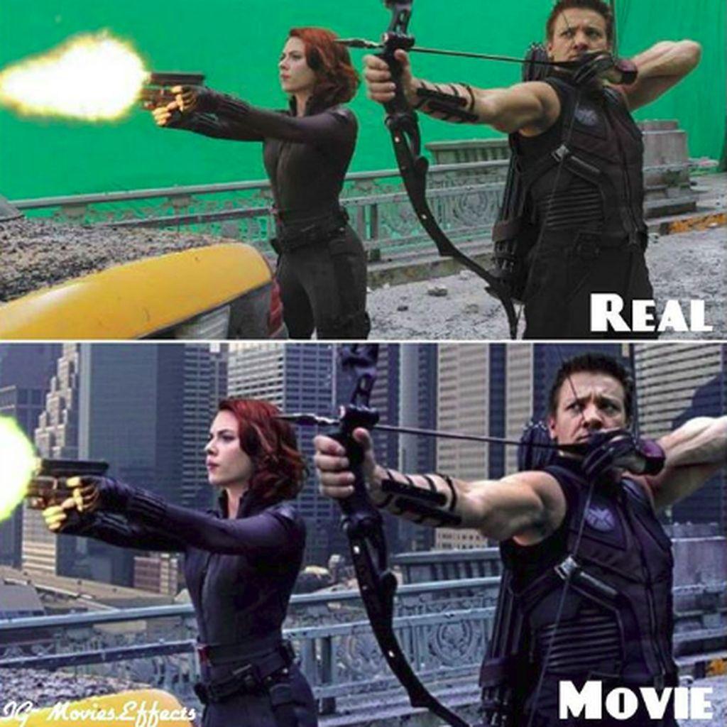 Sebelum dan Setelah Jagoan Avengers Dipoles Teknologi CGI