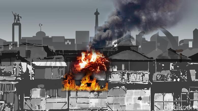Kebakaran Rumah di Jatinegara, 16 Unit Pemadam Diterjunkan
