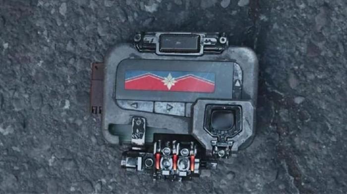 Pager untuk memanggil Captain Marvel. (Foto: screenshot YoutTube)