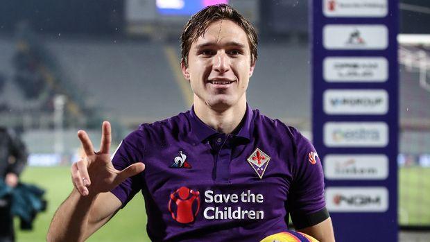 Meski baru 21 tahun, Federico Chiesa, sudah 11 kali membela timnas Italia. (