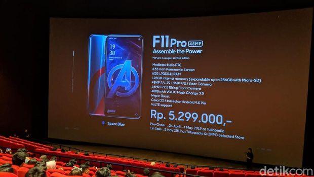 Sudah Bisa Dipesan, Ini Harga Oppo F11 Pro Edisi Avengers