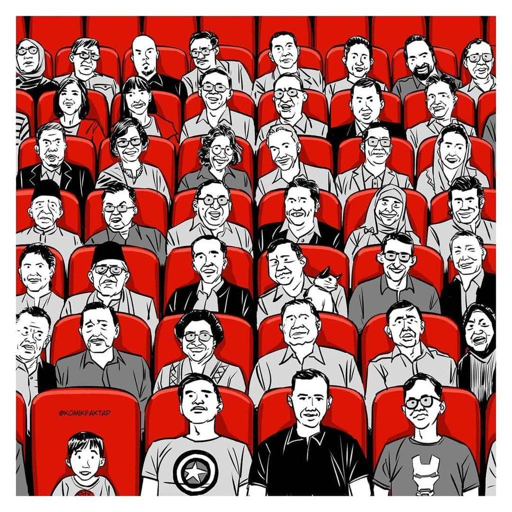 Bertarung di Pilpres, Jokowi dan Prabowo Bersatu di Avengers: Endgame