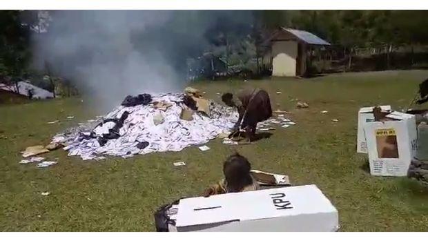 Polri: Surat Suara di Puncak Jaya yang Dibakar Sisa Pencoblosan Sistem Noken