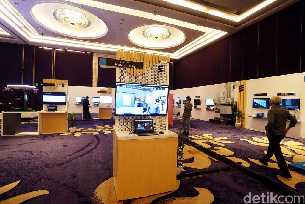 Ericsson menghadirkan platform 5G generasi terbaru pada acara telnologi andalannya, Barcelona Unboxed, di Jakarta, Kamis (25/04/2019).