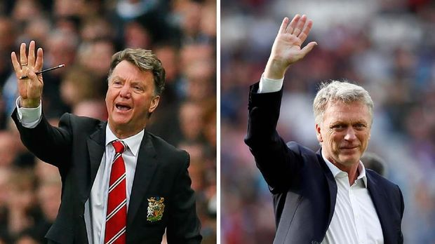 Louis van Gaal dan David Moyes gagal bertahan di Man United.
