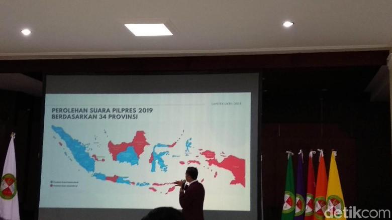 Survei C1 Hasil Pilpres Kampusnya Prabowo: Jokowi 35,9% Prabowo 62,2%