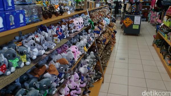 Kebun Binatang Perth di 20 Labouchere R, South Perth menjual boneka kecil seperti quokka, kanguru, wallaby, koala dan lain sebagainya (Masaul/detikcom)