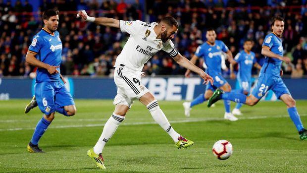 Real Madrid bermain imbang tanpa gol di markas Getafe. (