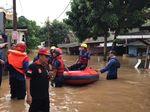 Penampakan Banjir Setinggi 2 Meter di Pasar Minggu