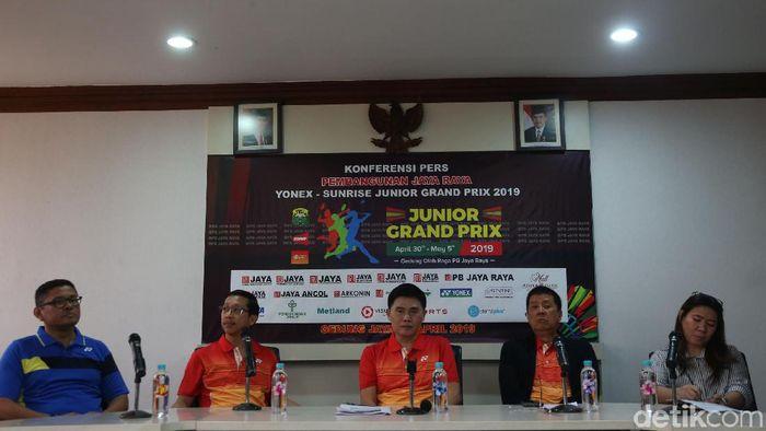 Konferensi pers Jaya Raya Junior Grand Prix  2019. (Rengga Sancaya/detikSport)