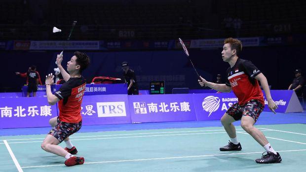 Kevin/Marcus sukses memberikan poin pertama untuk Indonesia atas Taiwan.