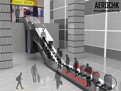 Inovasi Baru: Pemeriksaan di Bandara Lewat Eskalator Canggih