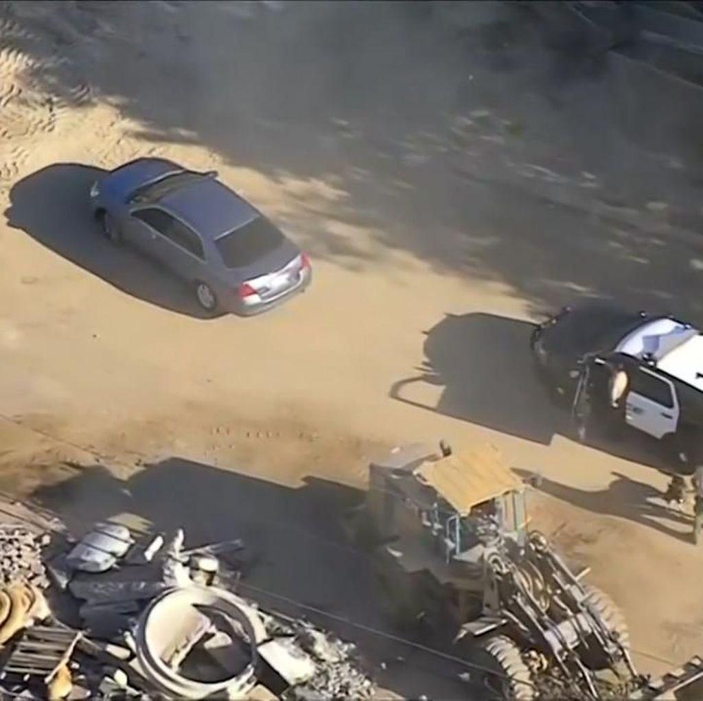 Bak Film! Aksi Kejar-kejaran Polisi dan Penjahat di California