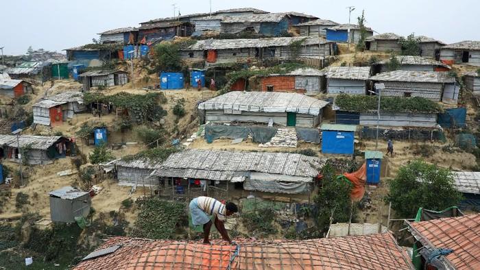 Ilustrasi -- Kamp pengungsi Rohingya di Bangladesh (REUTERS/Mohammad Ponir Hossain/File Photo)