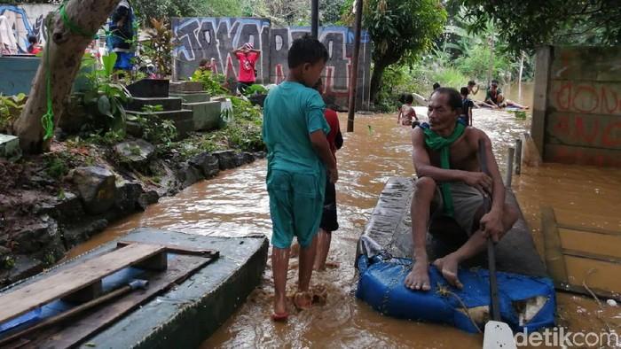 Foto: Banjir di Jakarta (Zakia Liland/detikcom)