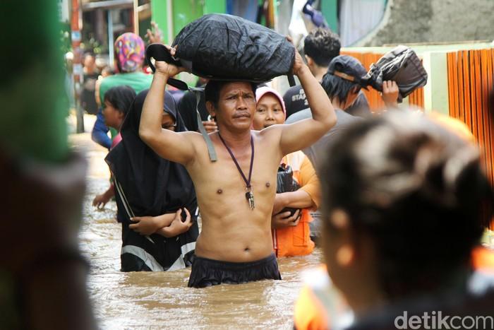 Ilustrasi banjir Jakarta. Foto: Rifkianto Nugroho/detikcom