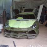 Pria Gunungkidul Lulusan SMP Sulap Mobil Sedan Jadi Lamborghini