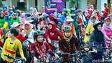 Para Kartini Gowes Keliling Banyuwangi Kenakan Kebaya