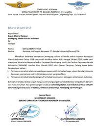 Bocor Surat Karyawan Garuda Ancam Mogok, Menhub: Sabar Dulu
