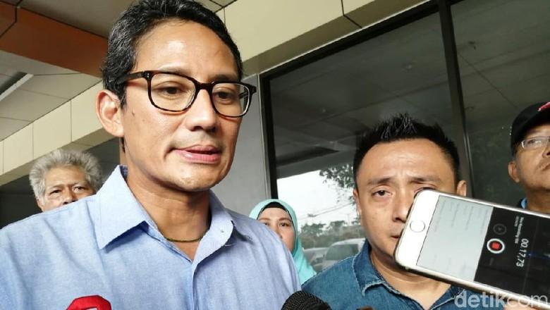 Mardani Haramkan 2019GantiPresiden, Sandi: Pemilu Bukan untuk Kalah-Menang