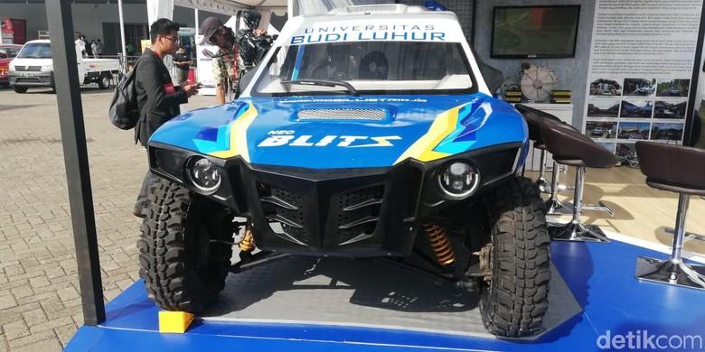 Mobil Listrik Mahasiswa Blits siap Tempur di Reli Dakar 2020. Foto: Rizki Pratama/detikcom