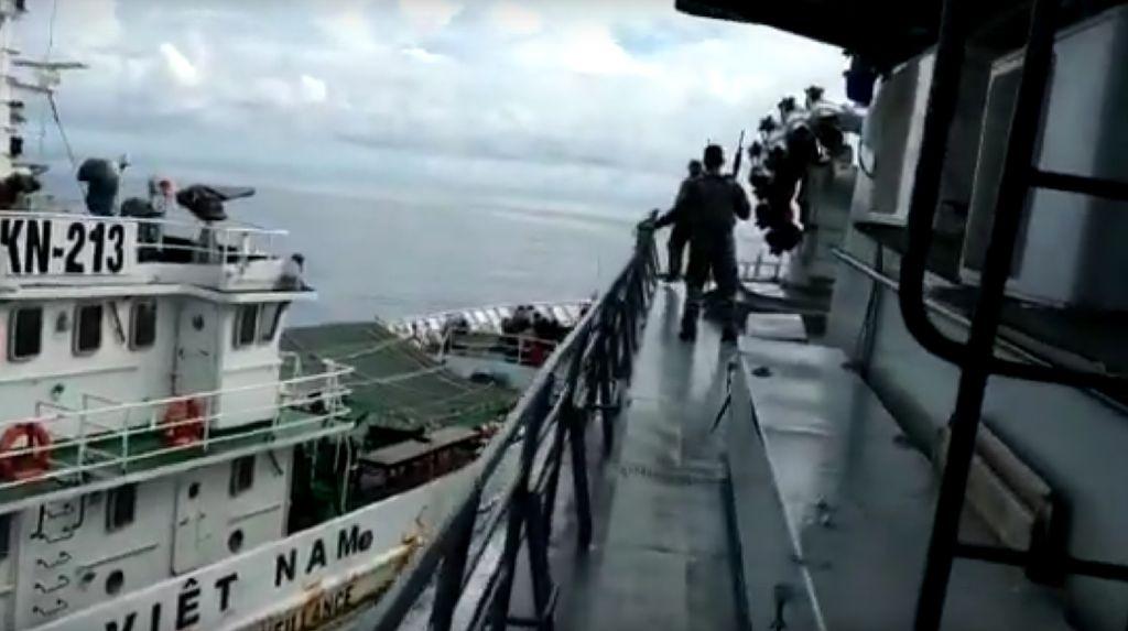 Begini Provokasi Kapal Vietnam Sengaja Tabrak Kapal TNI AL di Natuna