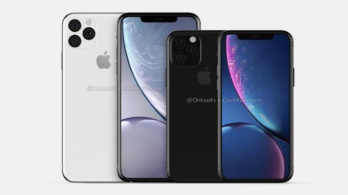 Prediksi render iPhone XI dan iPhone XI Max. Foto: OnLeaks x CashKaro