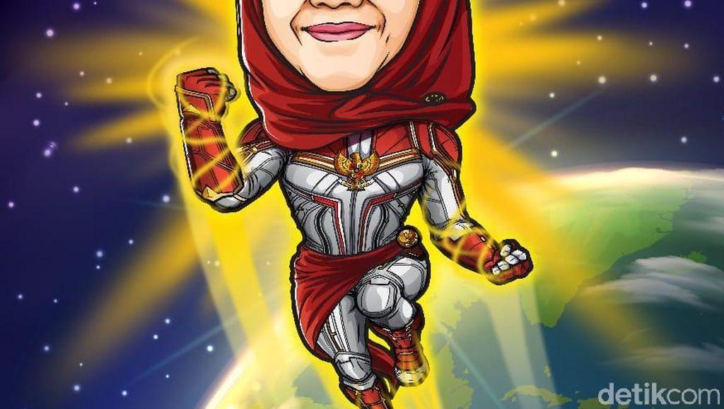 Demam Avengers: Endgame, Gubernur Khofifah Tampil Bak Captain Marvel