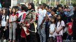 Aksi Srikandi Polwan Gelar Pertunjukan Reog di CFD