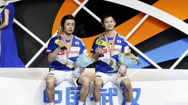 Hiriyuki Endo/Yuta Watanabe juara Kejuaraan Bulutangkis Asia 2019.
