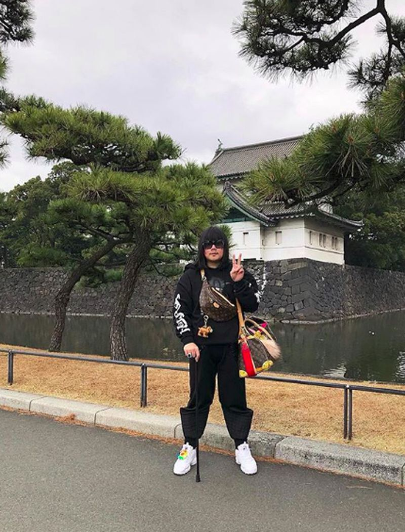 Saat Peepy berada di Tokyo, Jepang (peepy_and_mother_lee/Instagram)