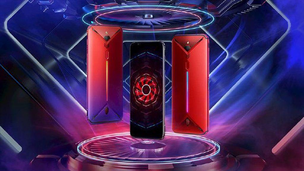 Nubia merilis Red Magic 3 di China. Ia memiliki layar AMOLED resolusi FHD+ yang berukuran 6,65 inch tanpa adanya notch. (Foto: Dok. Nubia)