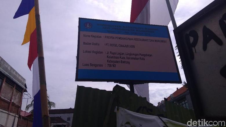 Pembangunan Restoran 5 Lantai di Eks TKP Bom Bali Ditunda