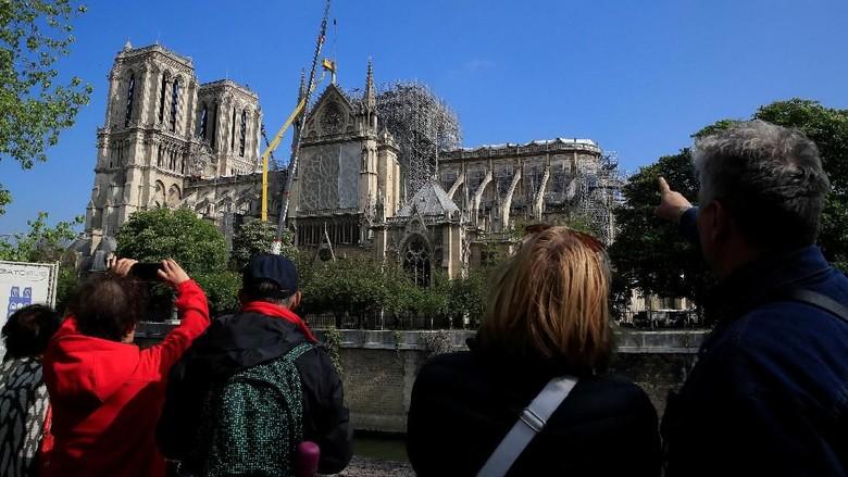 Renovasi Gereja Katedral Notre Dame terus dilakukan. Berikut foto-foto penampakan terkininya.