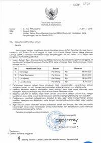 SK Menkeui soal santunan kerja penyelenggara ad hoc Pemilu 2019