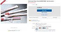 Wouw, Sedotan Plastik McD Ada yang Dijual Sampai Rp 18,4 Juta!
