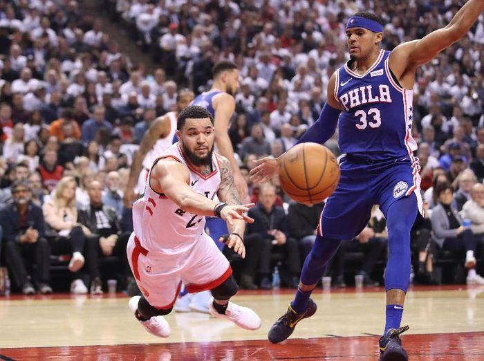 Philadelphia 76ers merebut gim kedua untuk menyamakan kedudukan jadi 1-1 (Tom Szczerbowski-USA TODAY Sports)