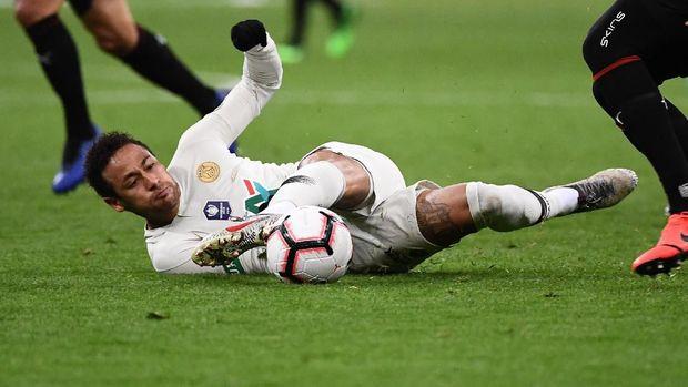 Neymar bermasalah dengan cedera di PSG.