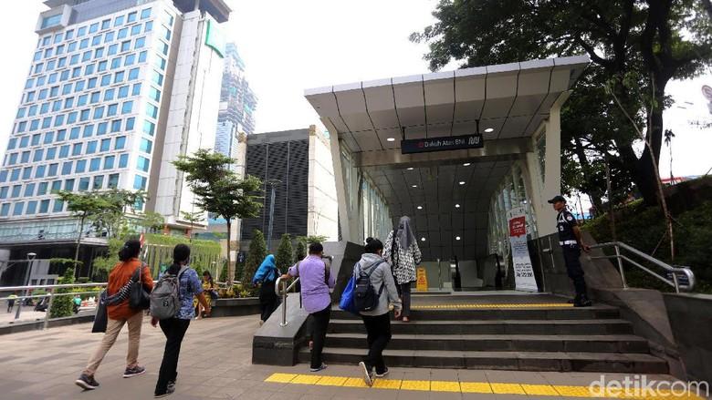 Stasiun MRT Dukuh Atas (Agung Pambudhy/detikcom)