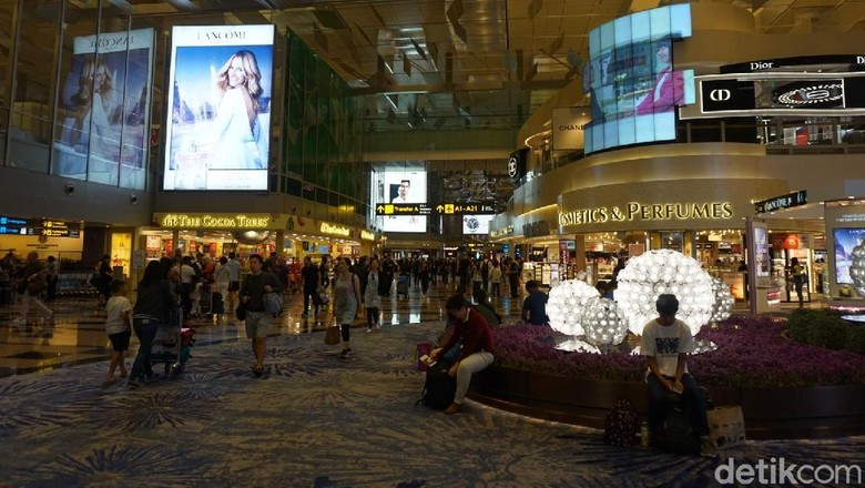 Foto: Bandara Changi di Singapura (Shinta/detikcom)