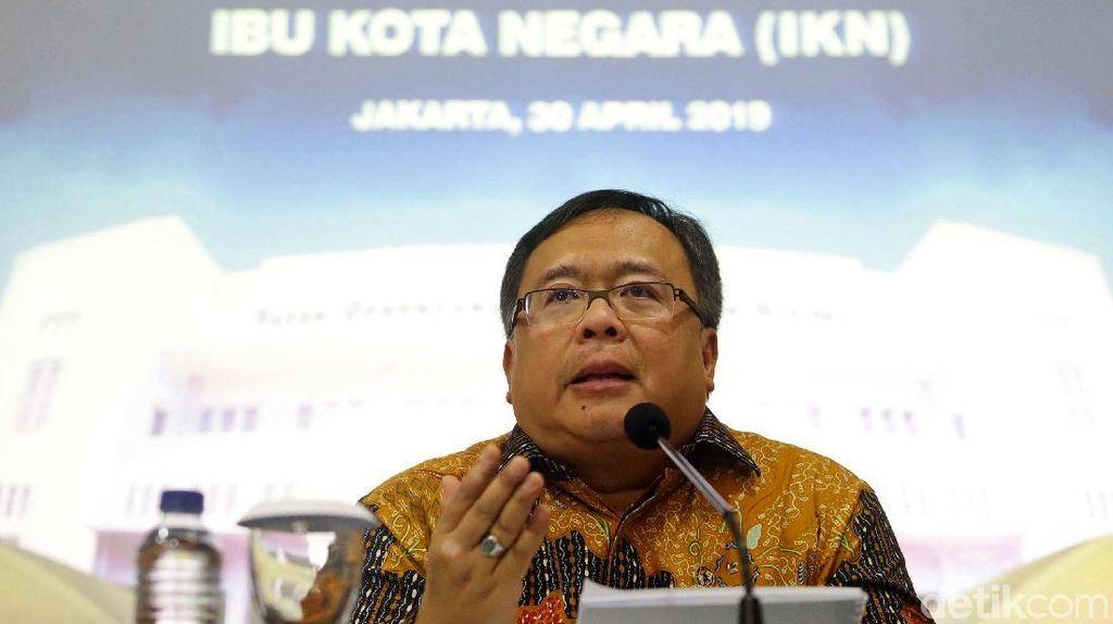 Kepala Bappenas Bahas Lagi Rencana Pemindahan Ibu Kota