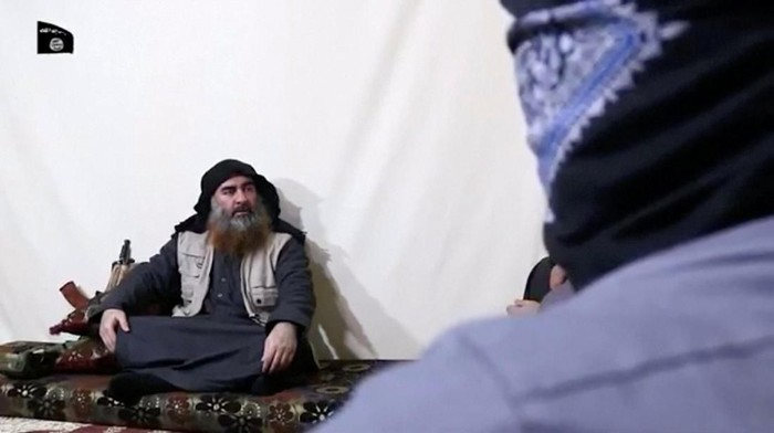 Abu Bakr al-Baghdadi dalam video propaganda ISIS yang dirilis April 2019 (Islamic State Group/Al Furqan Media Network/Reuters TV via REUTERS)
