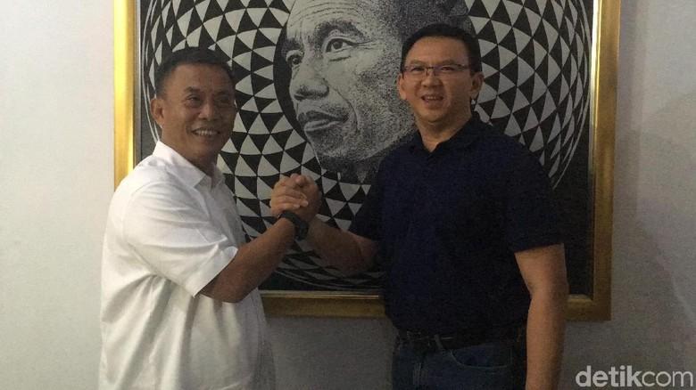 Ahok Bertemu Prasetio Edi di Rumah Dinas Ketua DPRD
