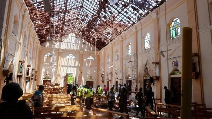 Lokasi kejadian serangan teror bom di Sri Lanka. Foto: Reuters