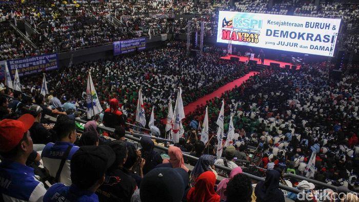 Peringatan May Day di Senayan/Foto: Rifkianto Nugroho