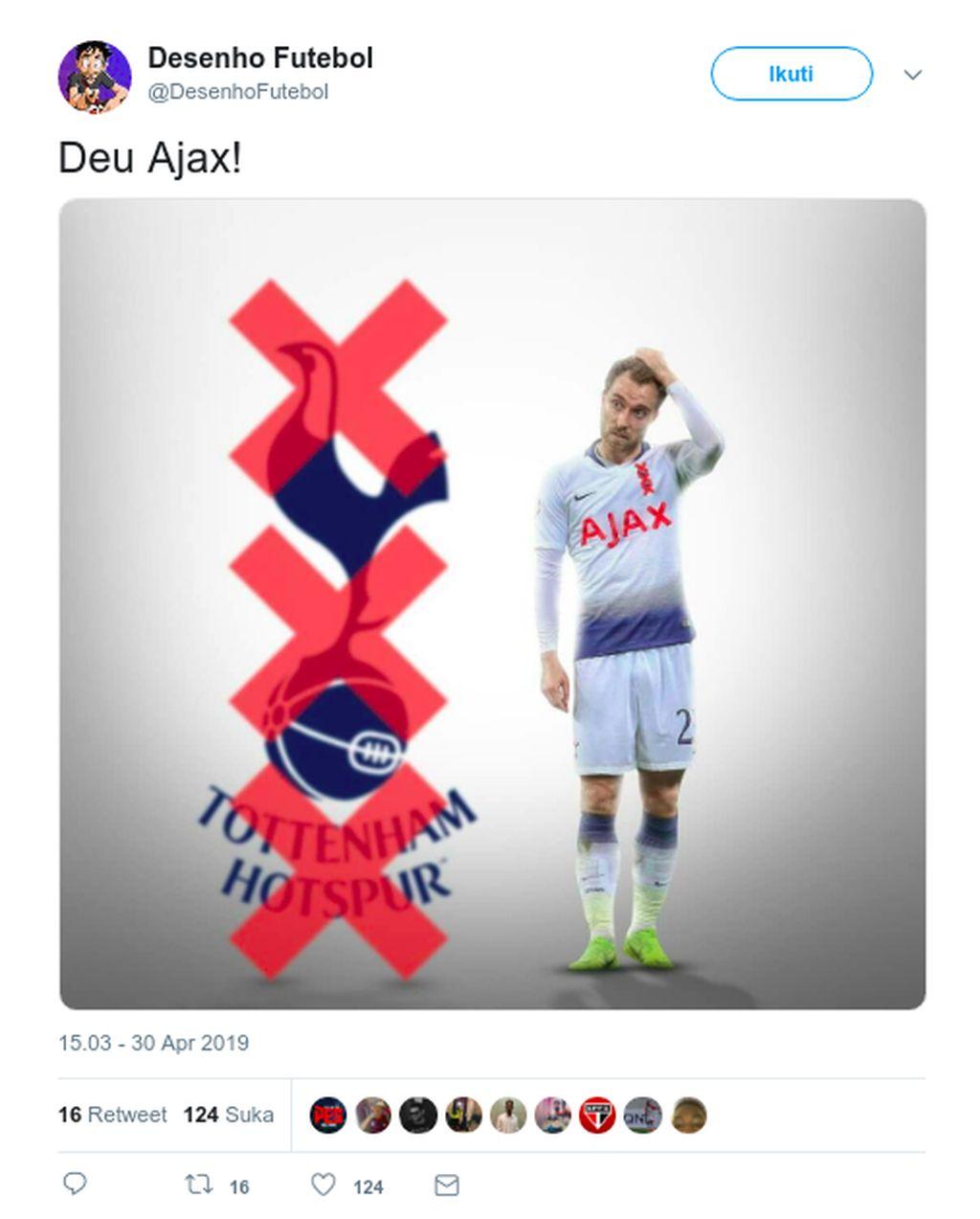 Di laga leg pertama semifinal Liga Champions, Tottenham keok di markas sendiri. Tottenham adalah korban terbaru Ajax, di mana sebelumnya Real Madrid dan Juventus merasakan keperkasaan mereka di fase knock out. Foto: Istimewa