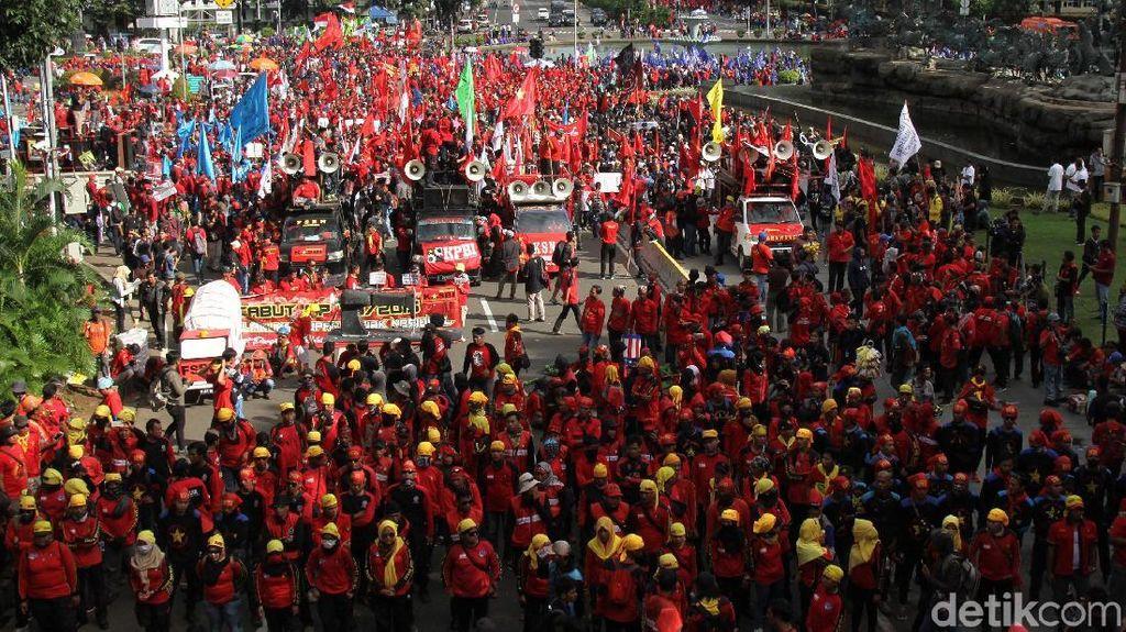Ojol Ogah Ikut Demo Buruh di DPR