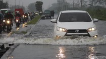 Baru Sehari Surut, Jalan Raya Porong Lama Sudah Banjir Lagi